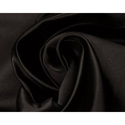 Jet Black colour Silk Dutchess Satin 58""