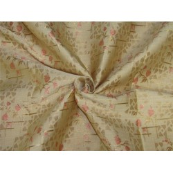 "Brocade fabric Golden peach color 60""wide Bro639[4]"