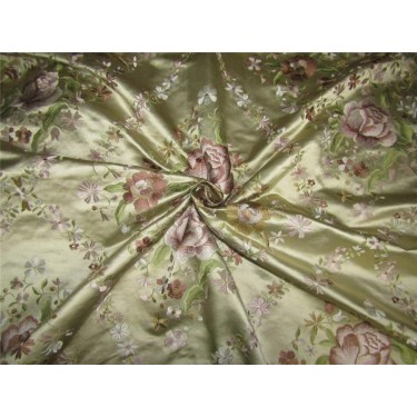 100% pure silk 45 momme EMBROIDERED dutchess satin 54""
