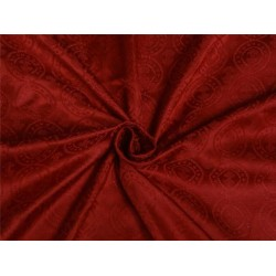 100% PURE SILK BROCADE~WIDTH 44 ~ CHRISTMAS RED COLOR BRO455[5]