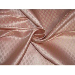 "Brocade fabric pink x metallic gold color 44""wide Bro641[4]"