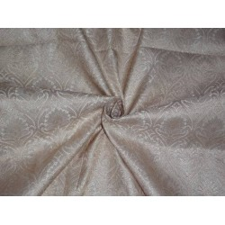 "BROCADE fabric 44""INCHES BEIGE X GOLD COLOR / BRO404[1]"