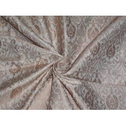 SILK BROCADE FABRIC IVORY X GOLD COLOR BRO405[1]