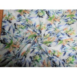 digital cotton lawn floral printed fabric-44""