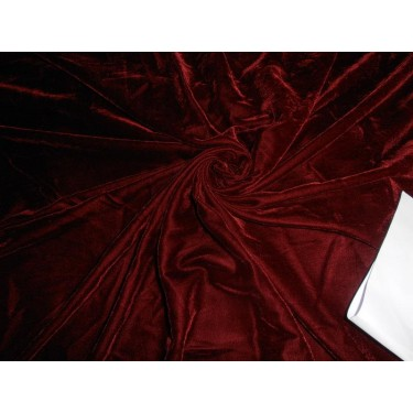 "dark maroon/wine  dobby Micro Velvet Fabric 44"" wide"