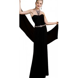 Pure Silk heavy crepe fabric- 53 momme black