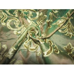 "Silk Organza Embroidered 54""green"