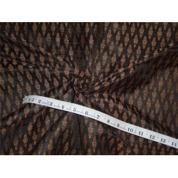 "silk brocade black brown 44"" wide BRO532[1]"
