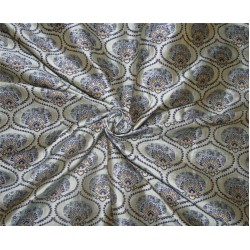 "Brocade fabric blueish grey/royal x metallic gold color 44"" wide bro615[4]"