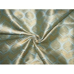 "Brocade fabric Blue x metallic gold color 60"" wide by the yard bro615[1]"