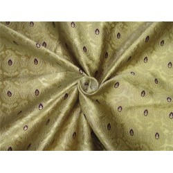 "Brocade fabric gold & purple color 44"" wide bro612[1]"