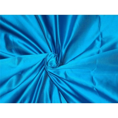 100% silk Turquoise Blue Heavy-Weight 48 MOMME Dutchess SATIN B2#30A[5]