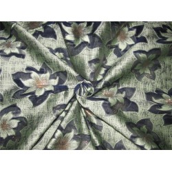 "Brocade fabric navy /mint x metallic gold color 60"" wide bro616[1]"