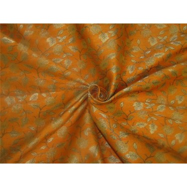 "Brocade fabric mustard and gold Color 44"" BRO613[2]"