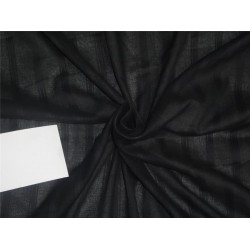 100% Cotton self stripe fabric black color 44''wide