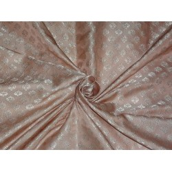 SILK BROCADE FABRIC Antique Pink 44""