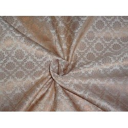 Spun Brocade Fabric Dusty Cream & Metallic Gold color 44""