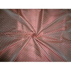 Spun Brocade Fabric Beige & Red color 44""