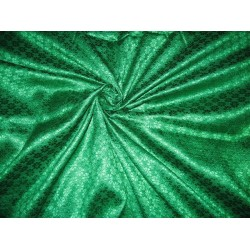 VISCOSE Spun JACQUARD BROCADE FABRIC~rich green