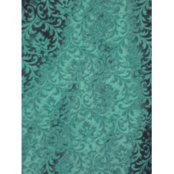 SPUN SILK BROCADE FABRIC -Shamrock green (Irish green)BRO72[6]