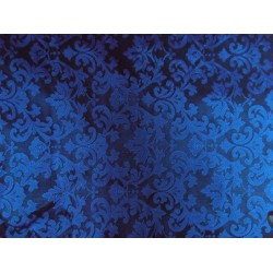SPUN SILK BROCADE FABRIC ROYAL BLUE COLOR bro188[5]