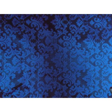 """SPUN SILK BROCADE FABRIC ROYAL BLUE COLOR bro188[5] 44"""" wide  sold by the yard"""