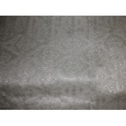 Pure SILK BROCADE vestment FABRIC -ivory white