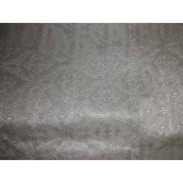 SILK BROCADE vestment FABRIC -ivory white BRO156[5]