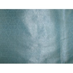 viscose SILK BROCADE VESTMENT FABRIC light blue Color