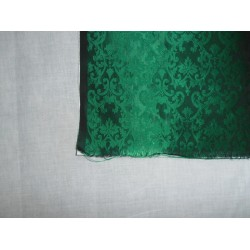 "Spun  Brocade Fabric Emerald Green colour 44""{cotton backing}"