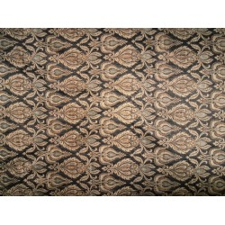 Spun/ viscose Brocade Fabric  Metallic gold/motifs