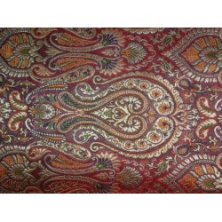Heavy  Brocade Fabric Metallic multi colour-mughal