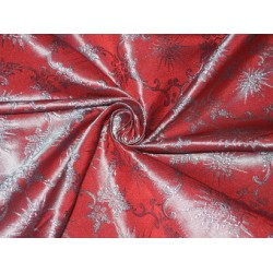 "Silk Brocade~Width 44""~Red & Blue Color 2 tone color  BRO85[1]  by the yard"