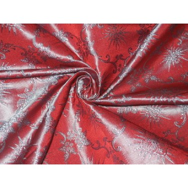 """Silk Brocade~Width 44""""~Red & Blue Color 2 tone color  BRO85[1]  by the yard"""