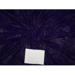 purple color embossed micro Velvet fabric