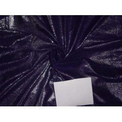 deep purple color micro Velvet fabric with silver foil