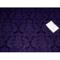 purple color embossed micro Velvet fabric single cut length 4.35 yards
