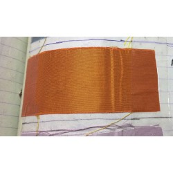 "100% pure silk taffeta fabric orange x yellow 54"" wide"