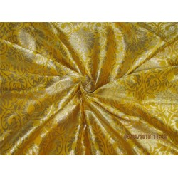 "Silk Brocade fabric Mango x metallic gold 44"" BRO589[1]"