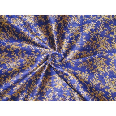 Reversible  Brocade Fabric ROYAL BLUE  X gold color 54 inches by the yard BRO592[4]