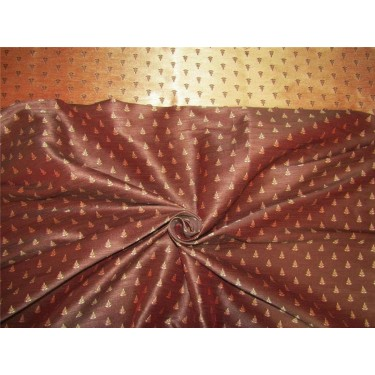 Reversible Silk Brocade Fabric Brown X gold color 58 inches by the yard BRO592[1]