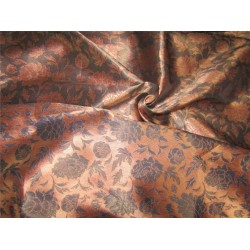 Silk brocade fabric copper color 58 inches by the yard bro591[4]