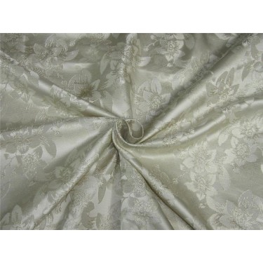 Silk brocade fabric dark ivory color 58 inches by the yard bro591[3]