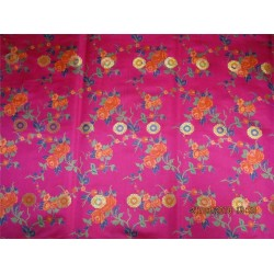 satin Silk Brocade Fabric 4.35 YADS bright pink,blueX metallic gold BRO547[8]