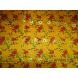 satin Silk Brocade Fabric 4.35 YADS Turmeric,red,green X metallic gold BRO547[7]