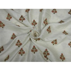Embroider jacquard brocade fabric ivory color 44''bro591[1]
