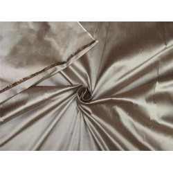 "100% Silk Dupioni fabric brown x silver color 54"" wide DUP257[2]"