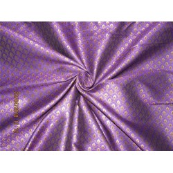 "Brocade fabric Purple x metallic gold Color 44"" BRO581[3]"