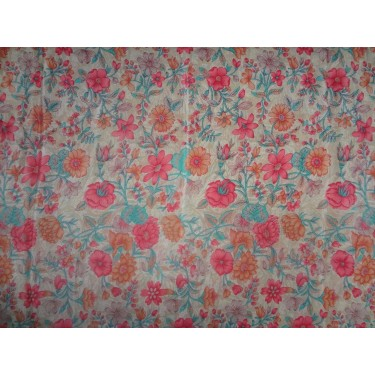 pure silk cdc crepe printed fabric 16 mm weight b2#101/2