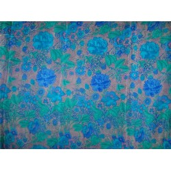 pure silk CDC crepe printed fabric 16 mm weight b2#101/1